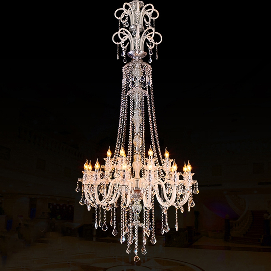 Preferred Large Chandeliers Modern Pertaining To Large Modern Crystal Chandelier For High Ceiling Extra Large (View 12 of 15)
