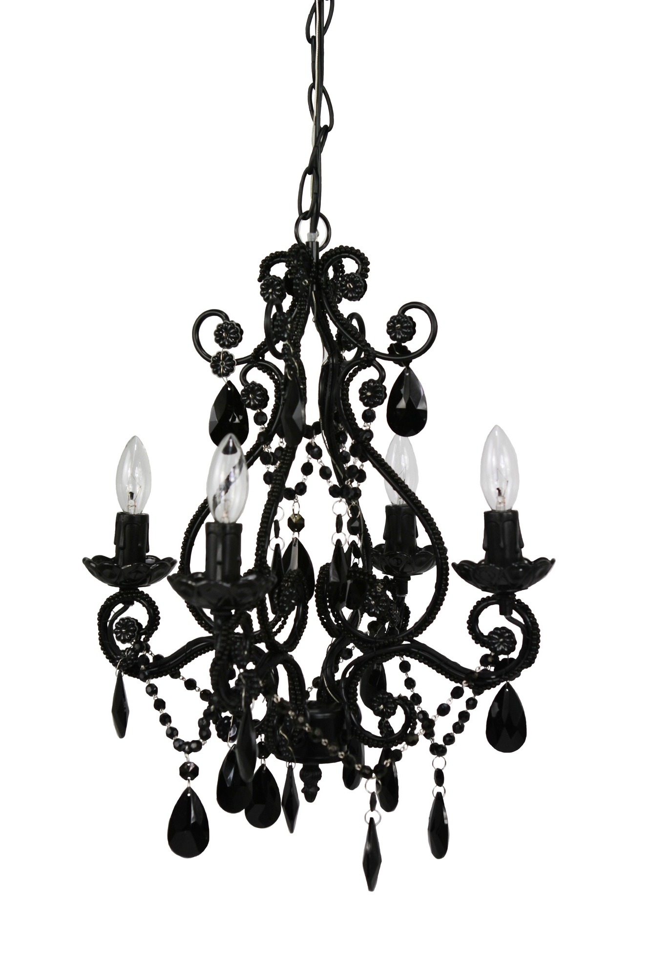 Preferred Modern And Cheap Chandeliers – Decoholic Throughout Vintage Black Chandelier (View 7 of 15)