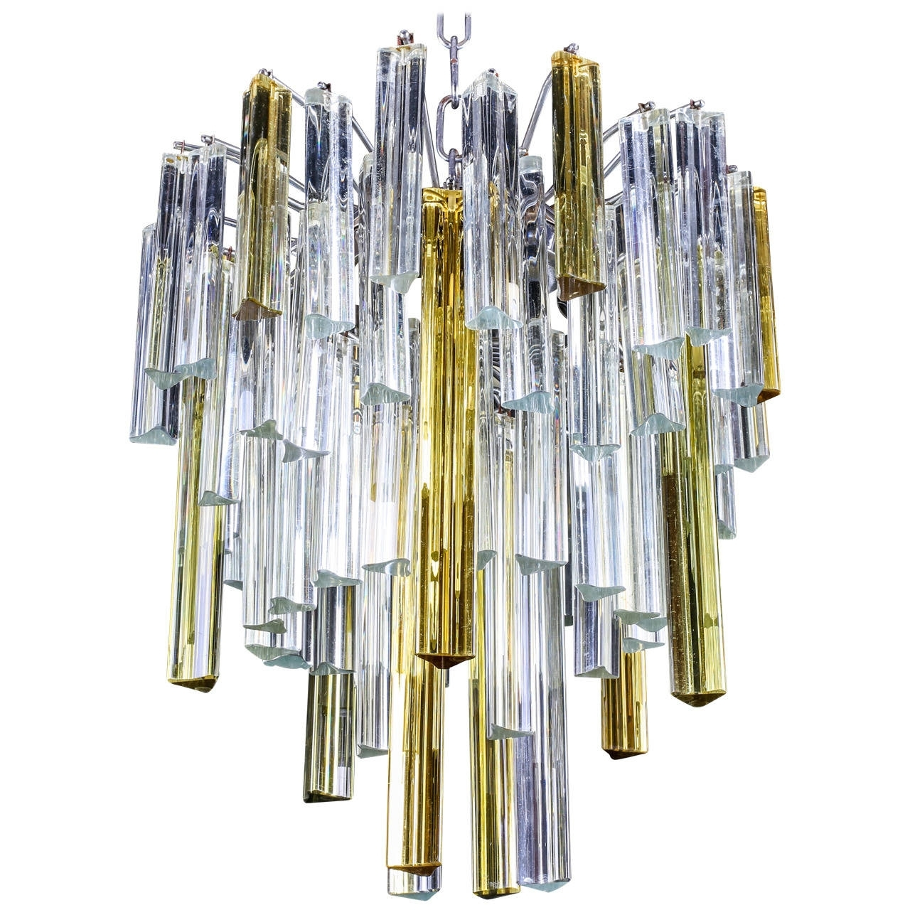 "Preferred Vintage Italian Chandeliers Pertaining To Vintage Italian Murano ""Waterfall"" Chandeliervenini, Circa 1960S (View 11 of 15)"
