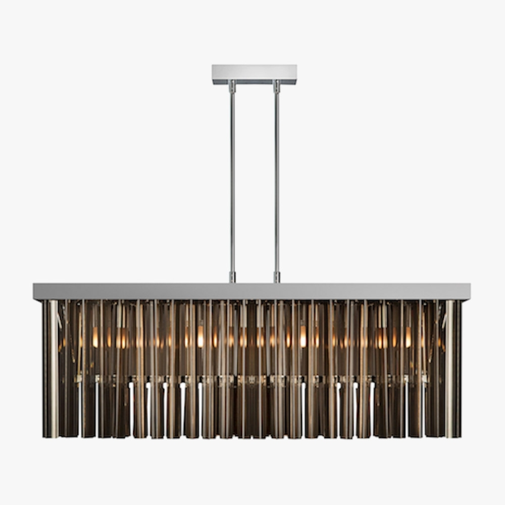 Preferred Wall Mounted Chandeliers Inside Light Fixture : Rectangular Pendant Rectangular Pendant Chandelier (View 10 of 15)