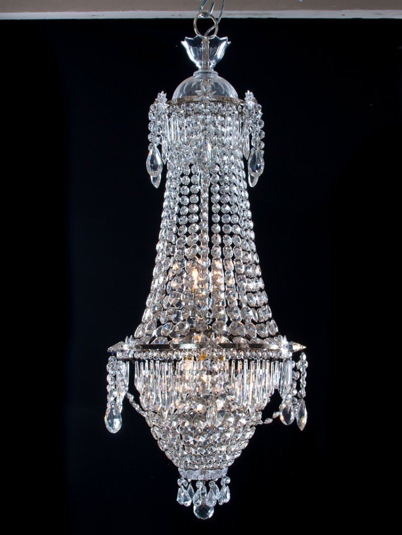 Preferred Waterfall Crystal Chandelier Intended For Bag Antique Crystal Chandelier, Antique Lighting (View 10 of 15)
