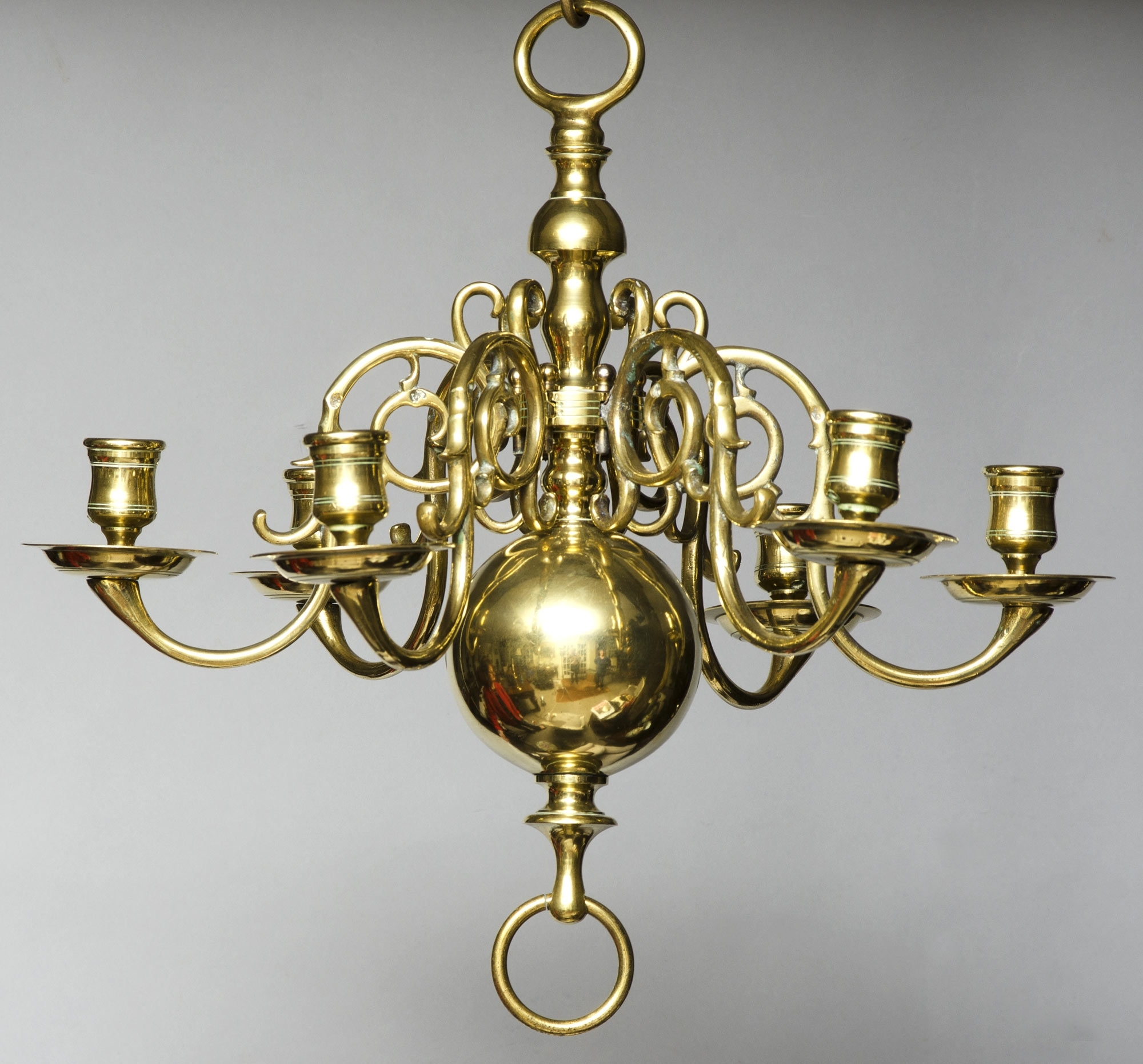 Product » Small Dutch Brass Chandelier Within Widely Used Old Brass Chandeliers (View 3 of 15)