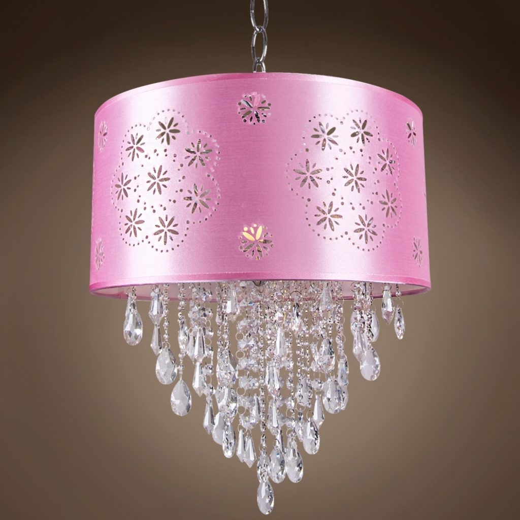 Purple Crystal Chandelier Lights With Famous Chandelier ~ Drum Shade Crystal Chandeliers & Drum Pendant Lighting (View 10 of 15)