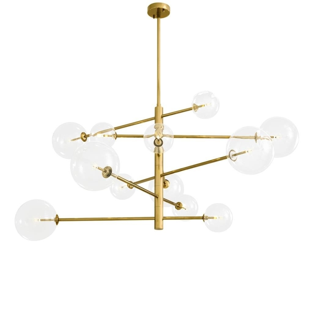Recent Argento Large Brass Chandelier (View 13 of 15)