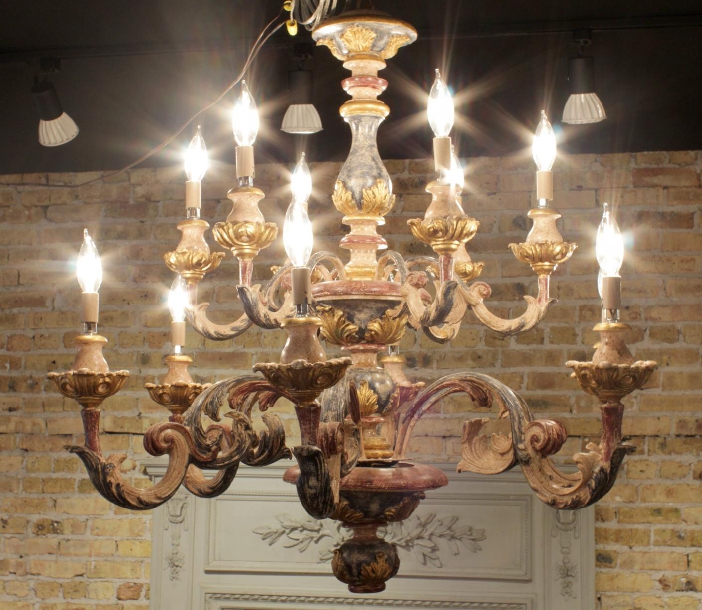 Recent Lighting: Wood Italian Chandelier. Chandelier. Wood. Italian (View 13 of 15)