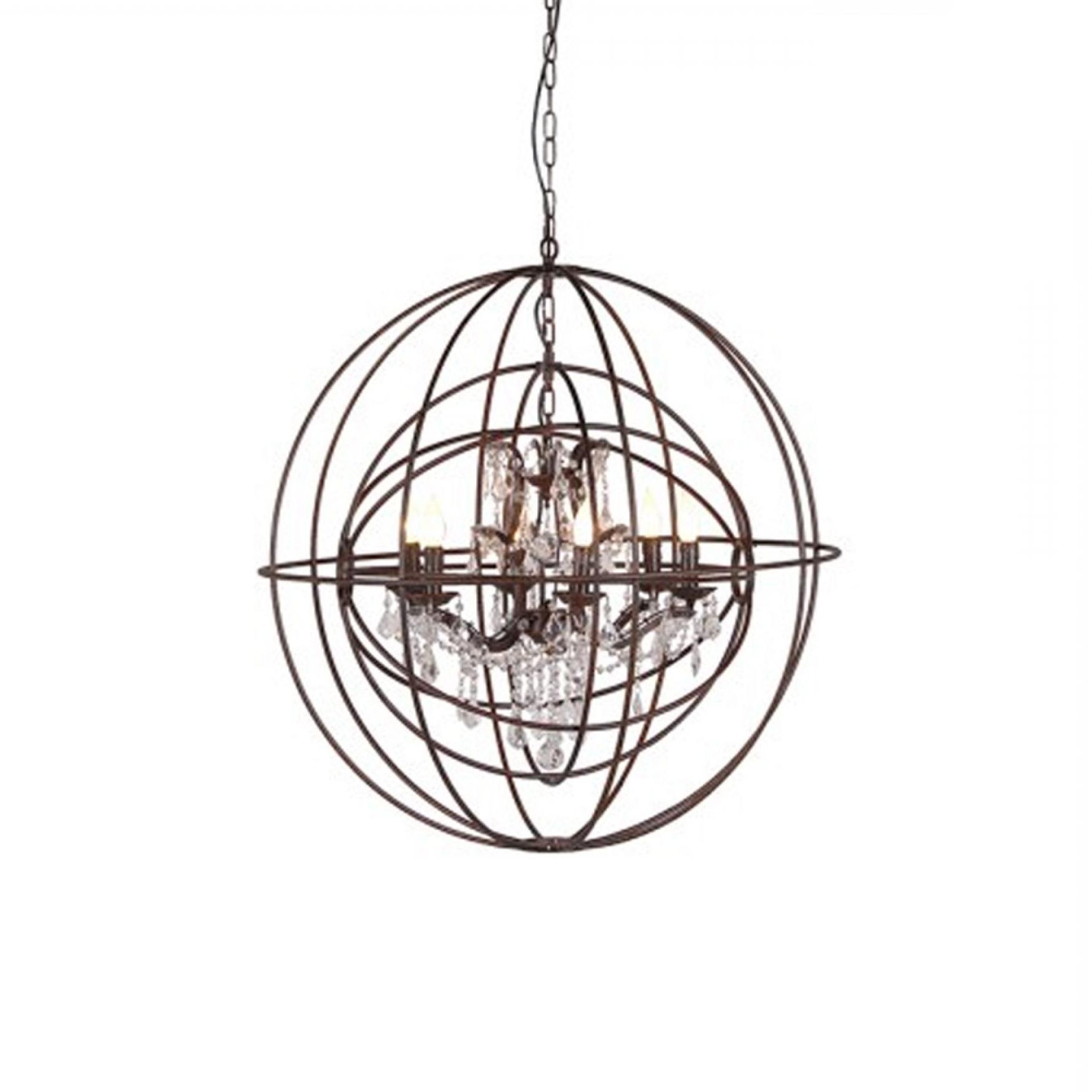 Recent Metal Sphere Chandelier Intended For Metal Sphere Chandelier (View 11 of 15)