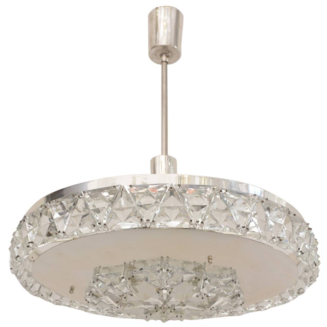 Recent Vienna Crystal Chandeliers With Silver Plated Bakalowits Vienna Faceted Crystal Chandelier, 1950S (View 11 of 15)