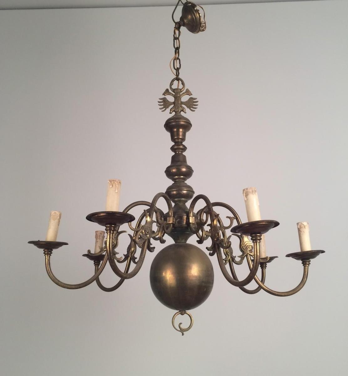 Recent Vintage Brass Chandelier – Chandelier Designs Within Old Brass Chandelier (View 7 of 15)