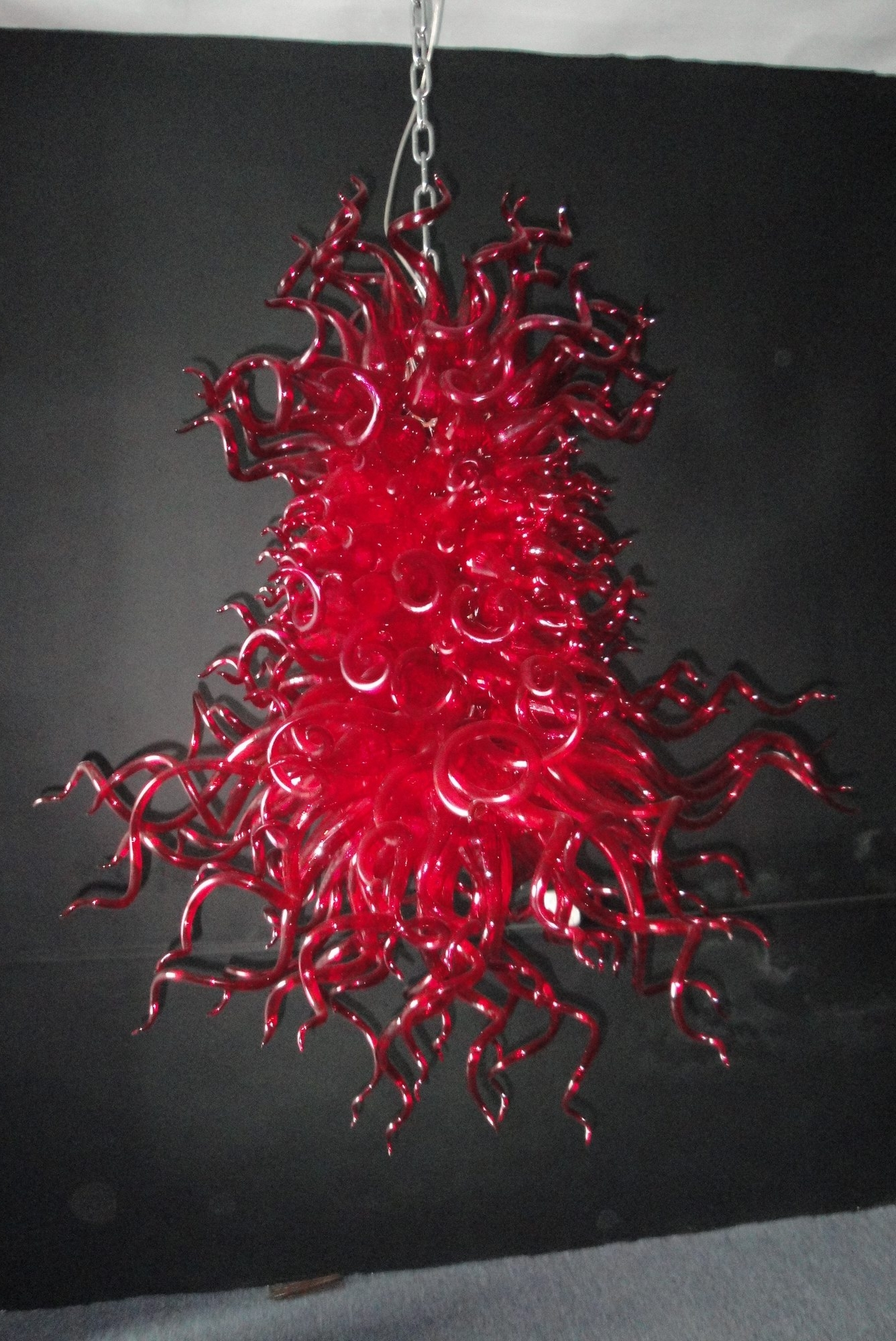 Red Chandeliers With Regard To Favorite Of Customized Selling Various Places Modern Red Bright Blown Glass (View 10 of 15)