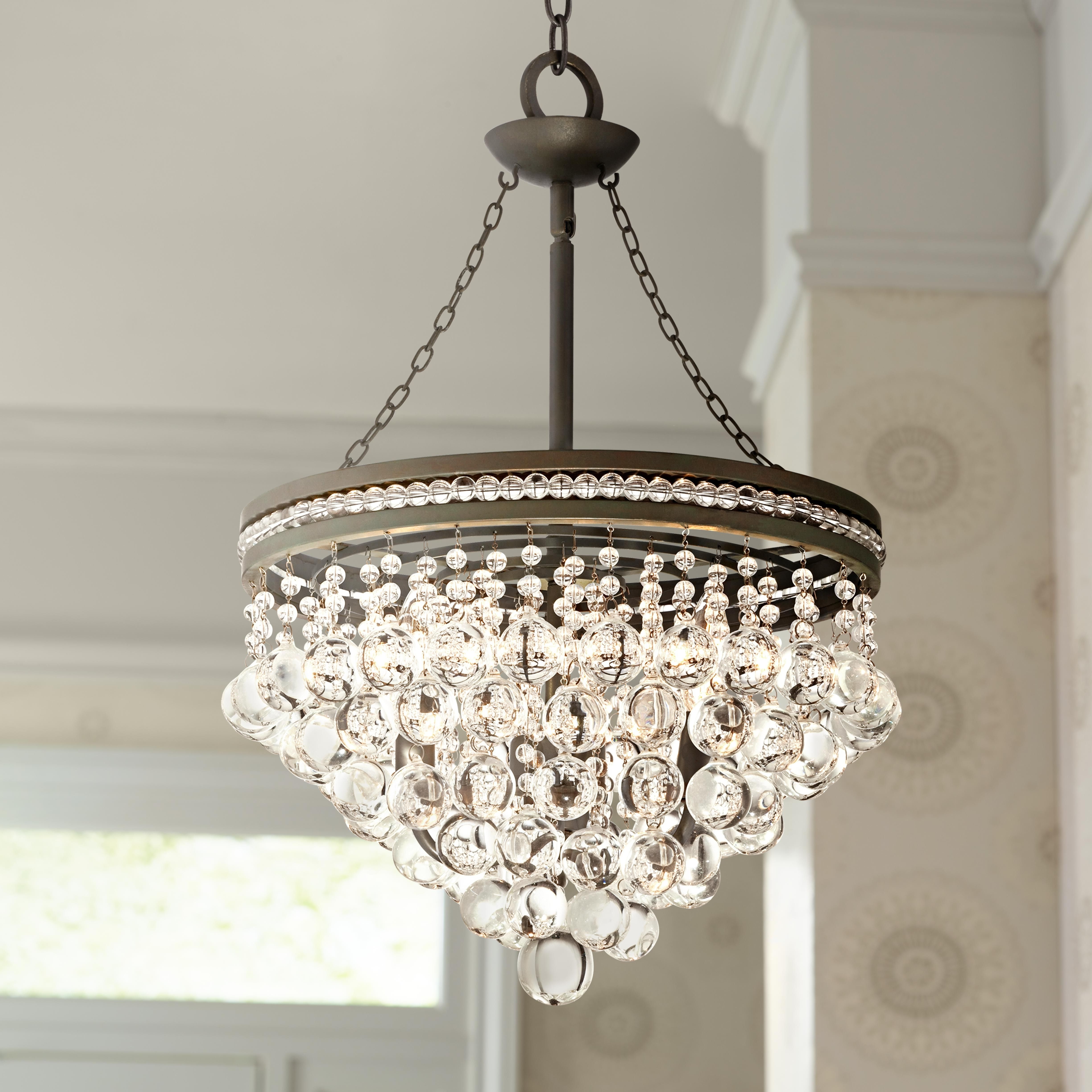 "Regina Olive Bronze 19"" Wide Crystal Chandelier (View 13 of 15)"