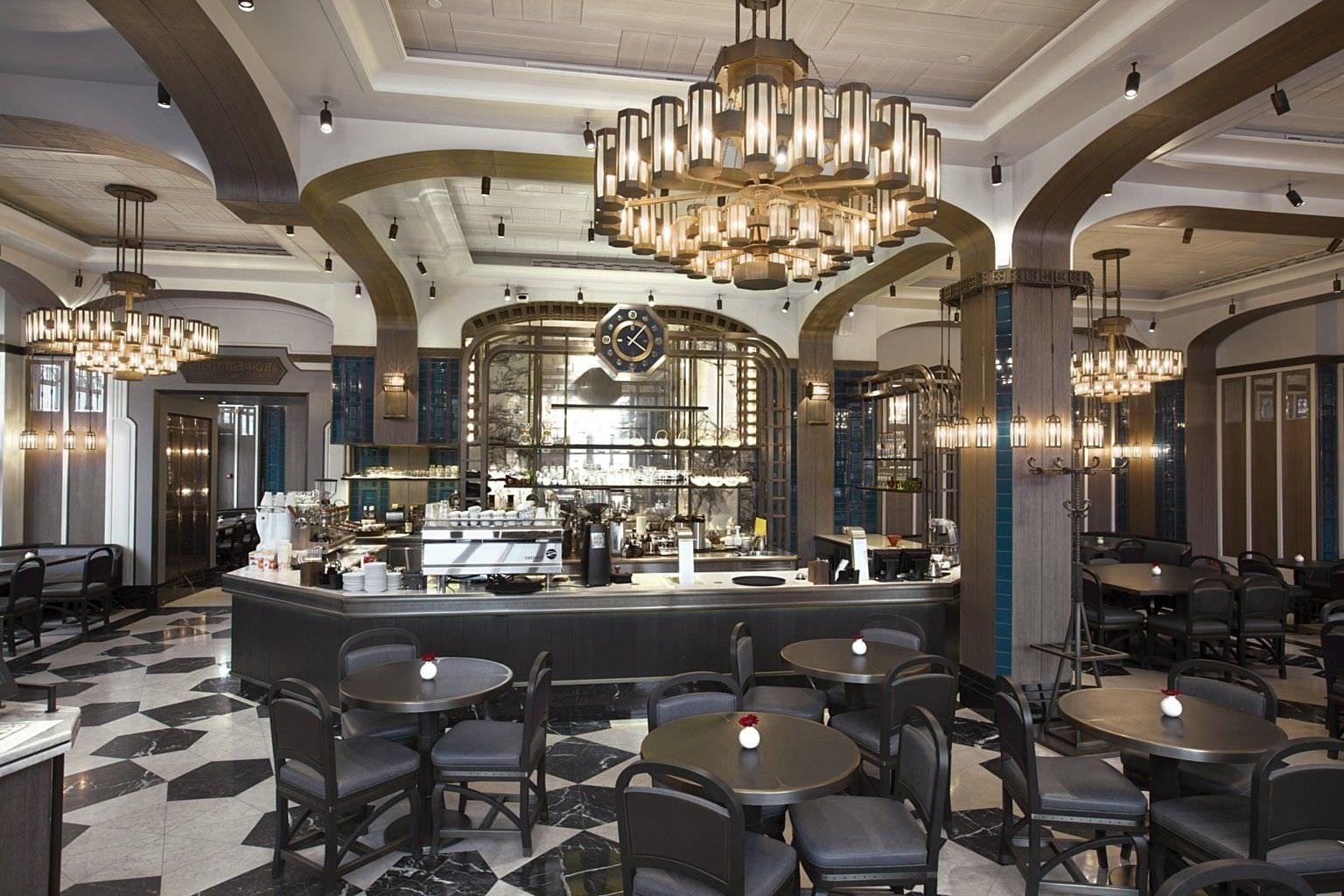Restaurant Chandelier With Newest Contemporary Chandelier / Glass / Brass / Led – Coffeemania – Lasvit (View 3 of 15)