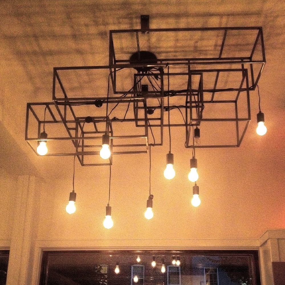 Restaurant Chandeliers Regarding Well Known Esmé Restaurant, Nyc — Hedron Studio (View 12 of 15)