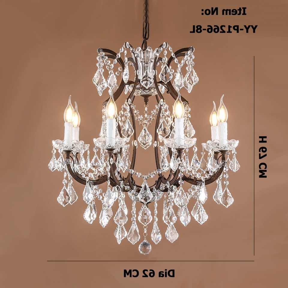 Retro Chandeliers Within 2018 Retro Antique Crystal Drops Chandeliers Restoration Hardware (View 12 of 15)