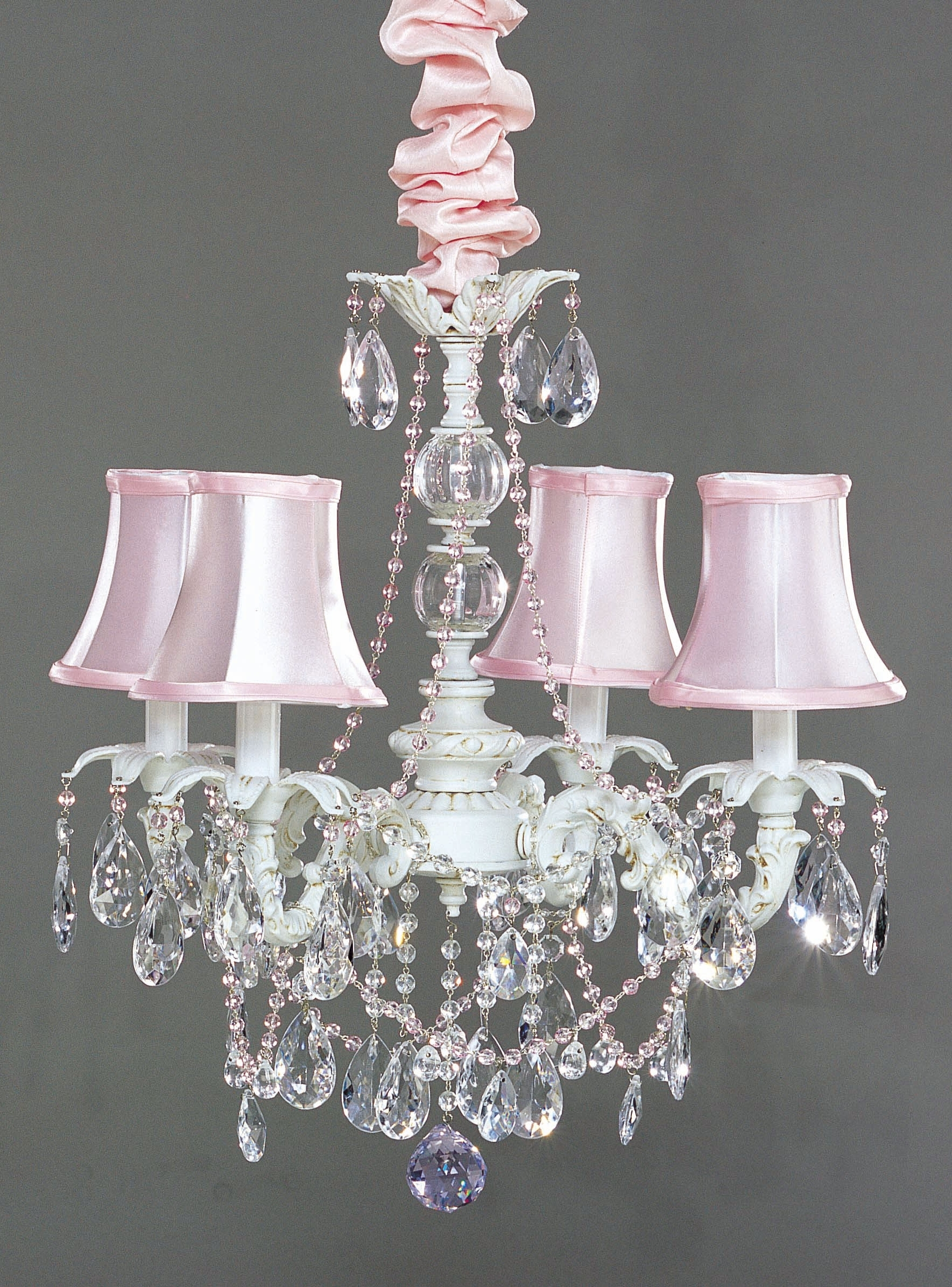 Shabby Chic Chandeliers Throughout Well Known Shabby Chic Chandeliers Amazinghabby Table Lamp Lighting Crystal (View 15 of 15)