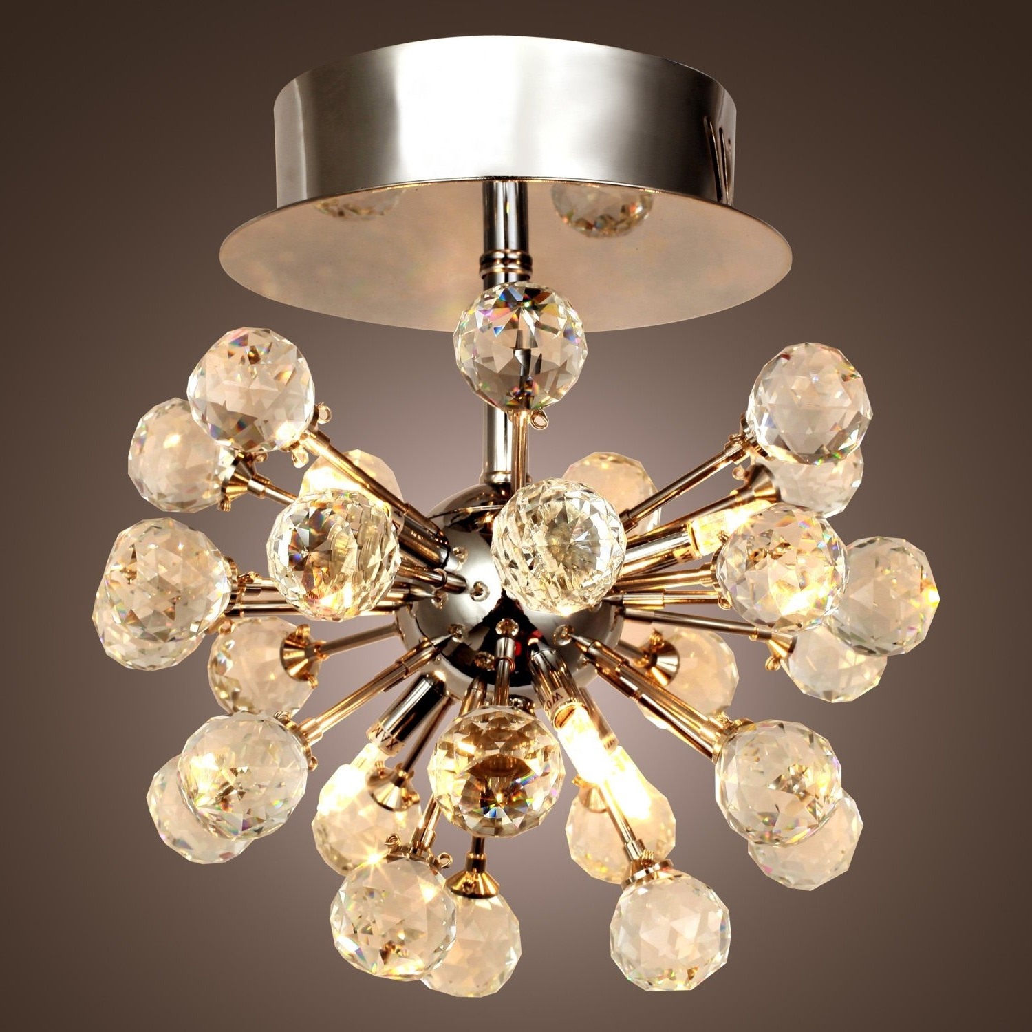Short Chandelier Lights With Regard To Widely Used Lightinthebox Max 10W K9 Crystal Chandelier With 6 Lights In Globe (View 7 of 15)