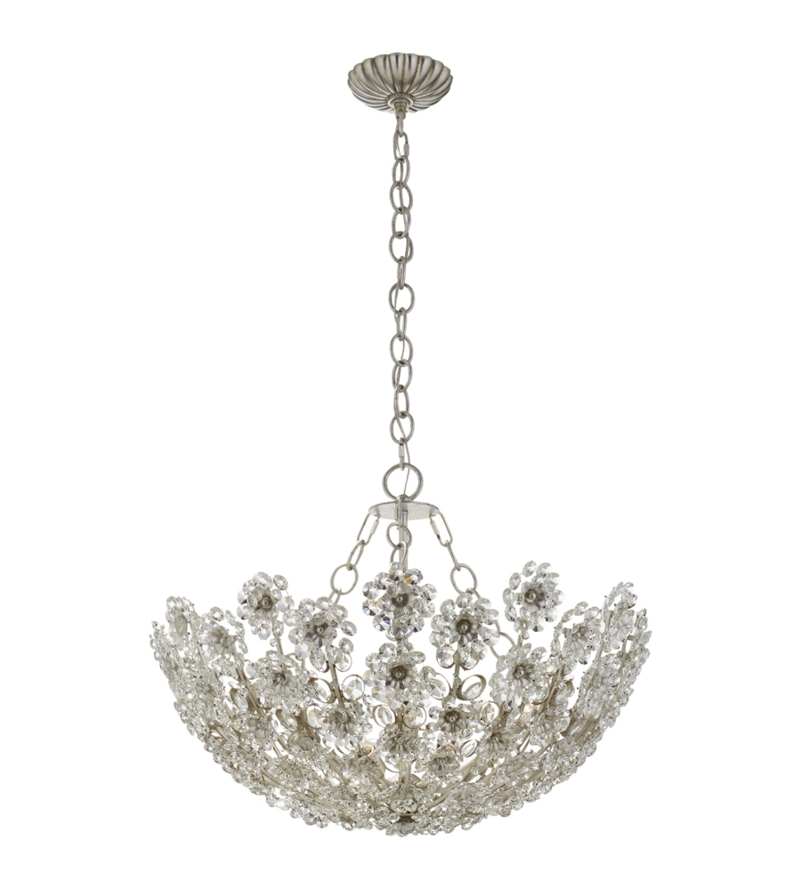 Short Chandelier Lights Within Most Popular Visual Comfort Arn 5220Bsl Cg Aerin Traditional Claret Short (View 9 of 15)