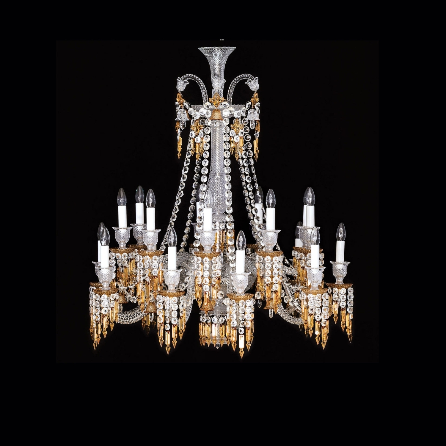 Short Chandelier With Regard To Famous Chandelier 18L Baccarat Zenith Charleston (View 10 of 15)