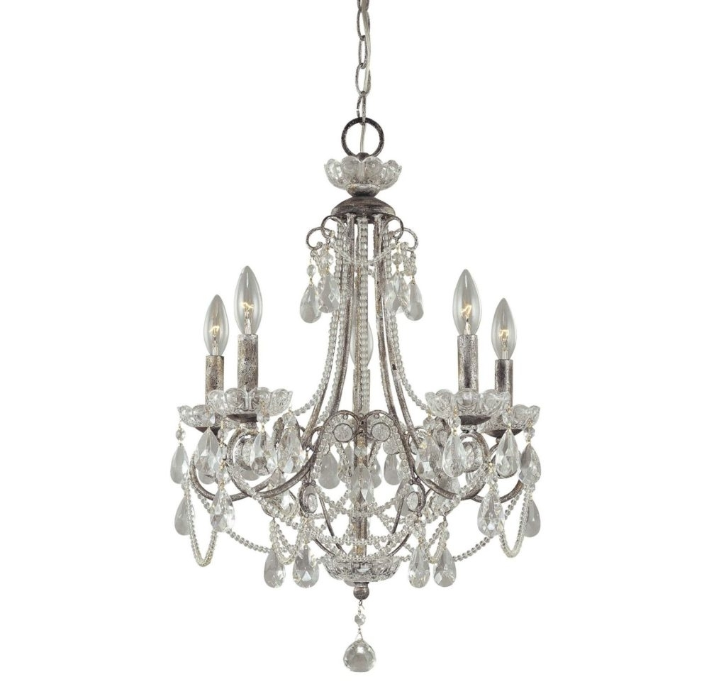 Small Chandeliers For Low Ceilings Within Famous Appealing Small Crystal Chandeliers Metal And Glass Material Antique (View 11 of 15)