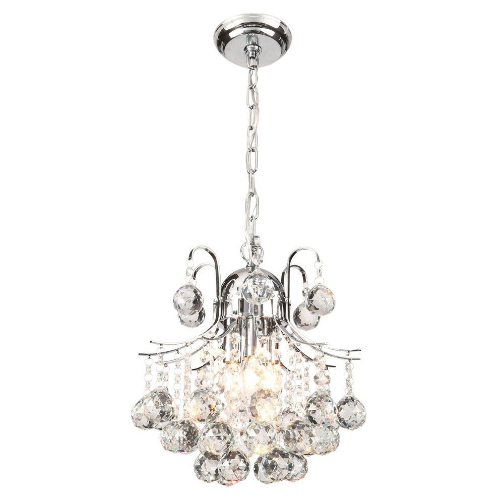 Small Chrome Chandelier Regarding Most Current Mini – Chandeliers – Lighting – The Home Depot (View 12 of 15)