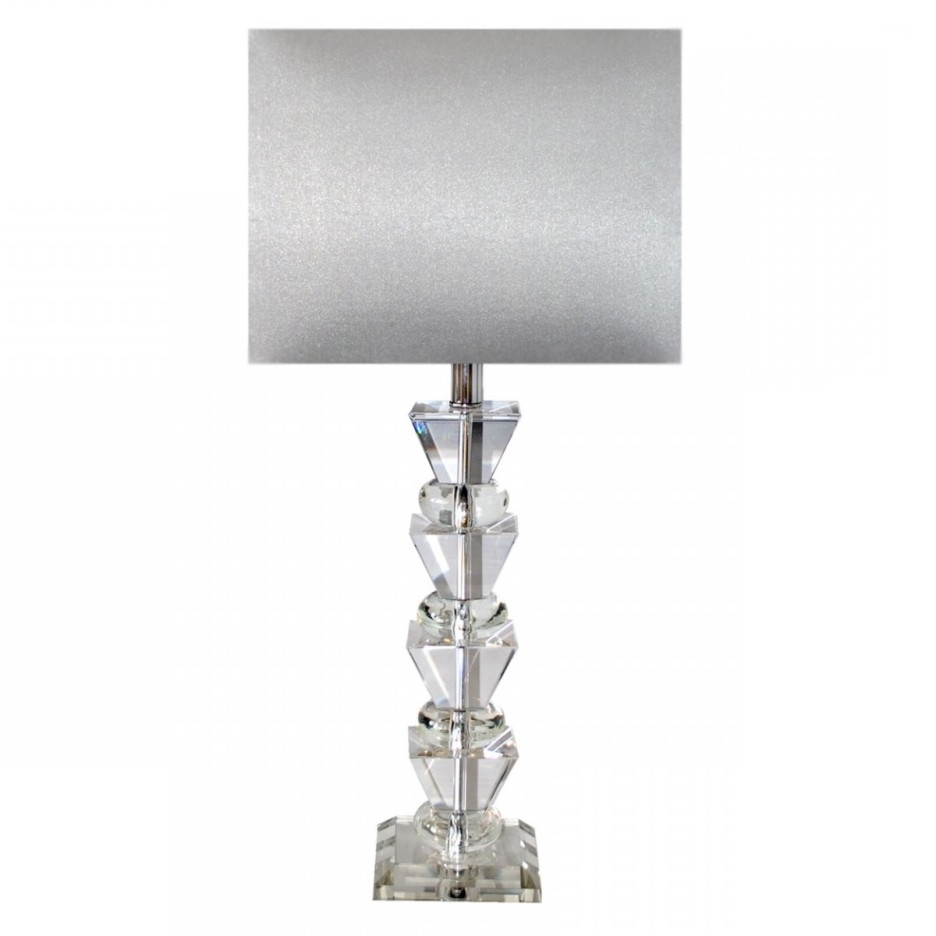 Small Crystal Chandelier Table Lamps Regarding 2018 Decoration Ideas Modern Bedroom Table Lamp Using White Drum (View 2 of 15)