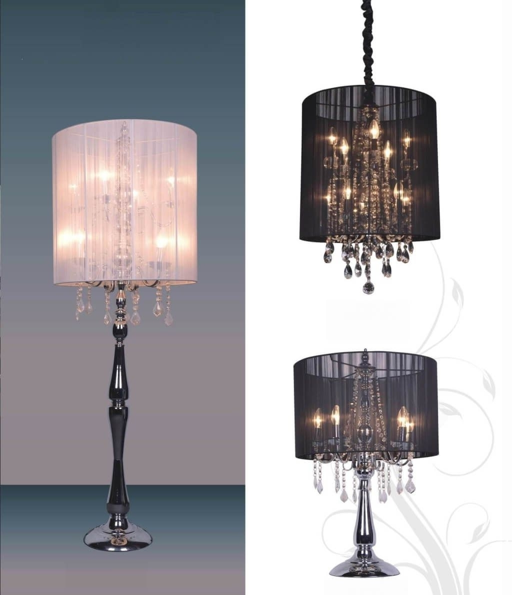 Small Crystal Chandelier Table Lamps within Most Up-to-Date Lighting: Enticing Small Chandelier Table Lamp With Aluminum Base