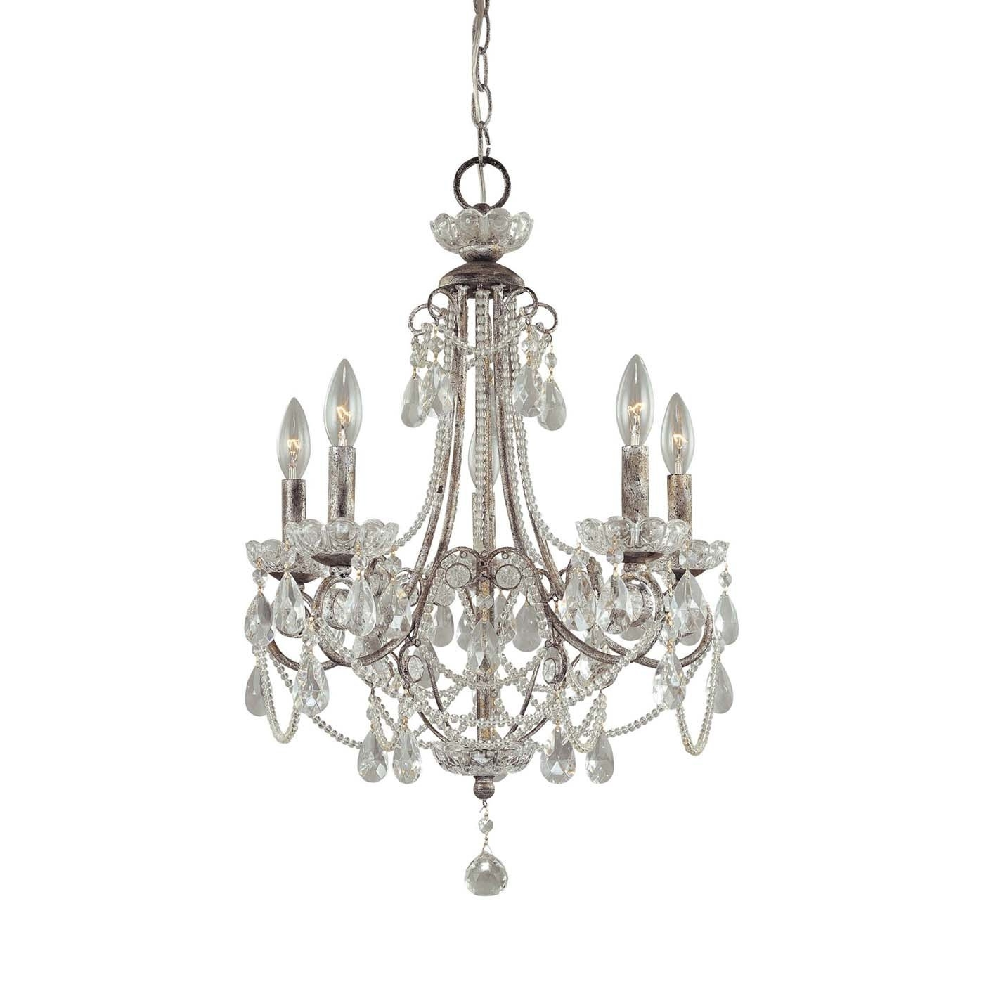 Small Glass Chandeliers Pertaining To Latest Chandelier: Extraordinary Small Chandeliers For Bedrooms Mini (View 9 of 15)