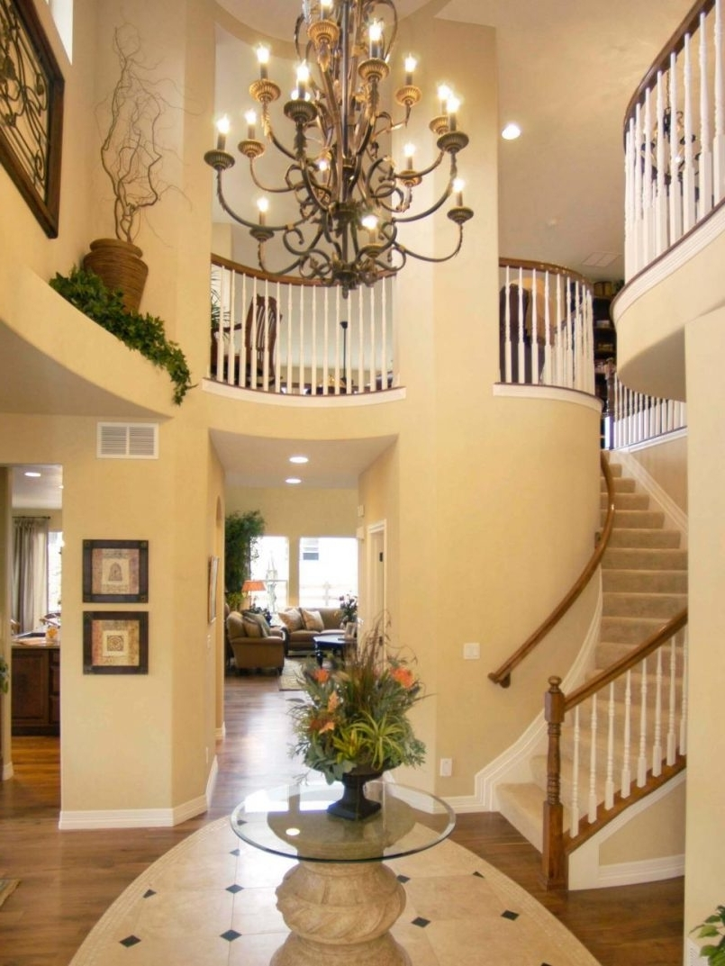 Small Hallway Chandeliers Pertaining To Well Liked Light : Front Door Chandelier Entryway Lighting Designs Pictures (View 10 of 15)