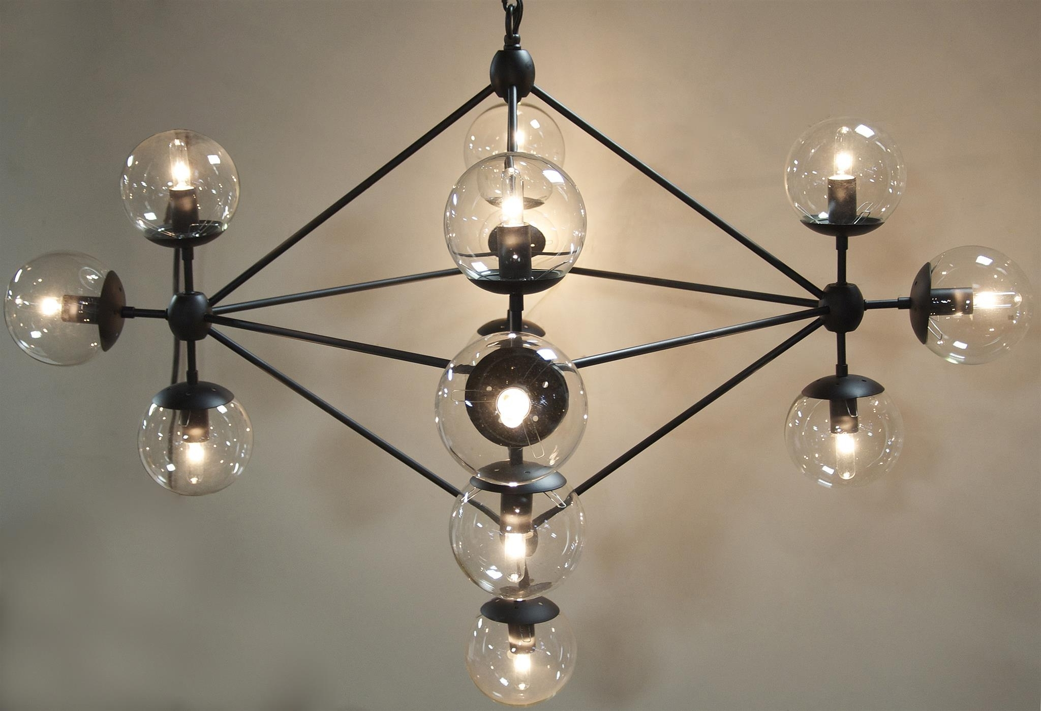 Small Mickey Metal And Glass Chandelier – Mecox Gardens Inside Well Known Large Glass Chandelier (View 12 of 15)