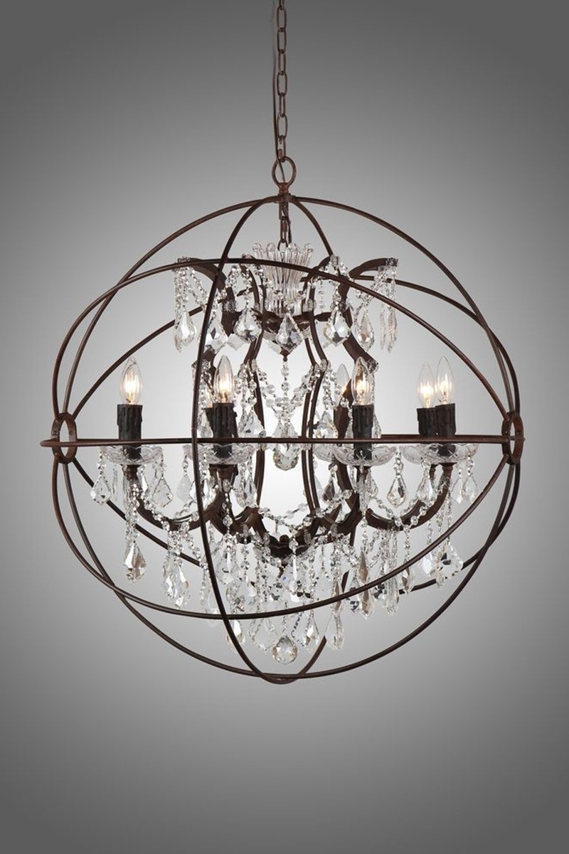 Small Rustic Crystal Chandeliers With Regard To Well Liked Chandeliers : Rustic And Crystal Chandelier Pottery Barn Chandeliers (View 4 of 15)