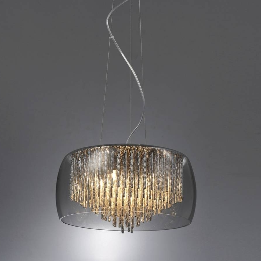 Smoked Glass Chandelier With Best And Newest Smoked Glass Shimmering Chandelier Ceiling Lightmade With Love (View 13 of 15)