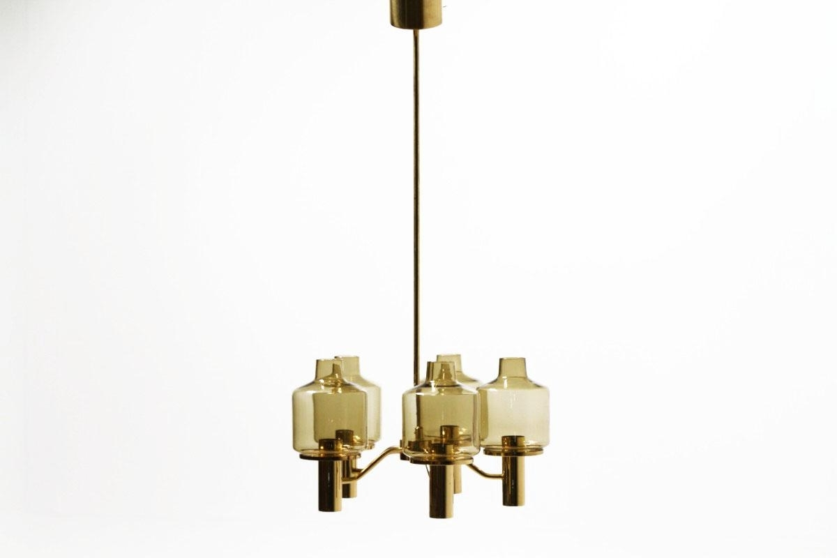 Smoked Glass Chandelierhans Agne Jakobsson For Markaryd, 1960S Throughout 2017 Smoked Glass Chandelier (View 12 of 15)