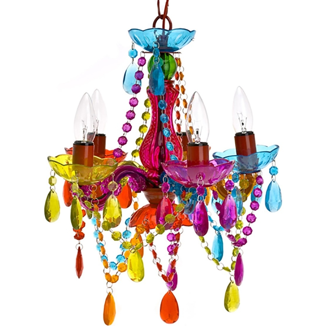 Somewhere Over The Rainbow With 2017 Multi Colored Gypsy Chandeliers (View 14 of 15)