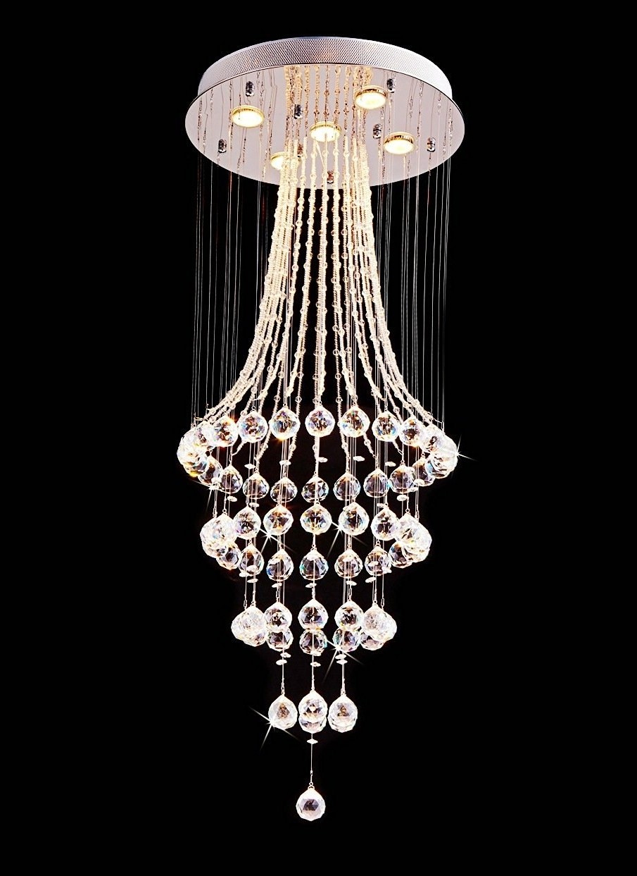 Sparkly Chandeliers Inside Most Recent Saint Mossi® Crystal Rain Drop Chandelier Modern & Contemporary (View 8 of 15)