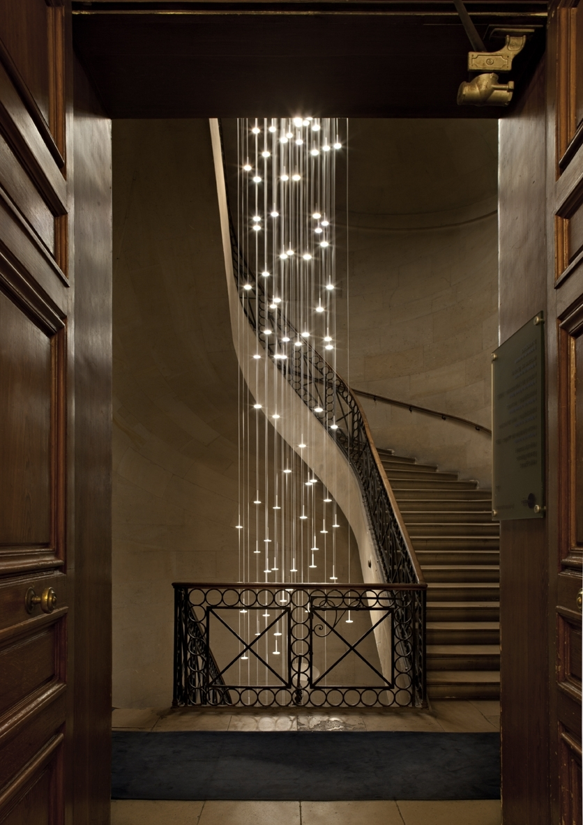 Spiral Staircase Foyer Chandelier – Closdurocnoir Regarding Most Up To Date Staircase Chandeliers (View 6 of 15)