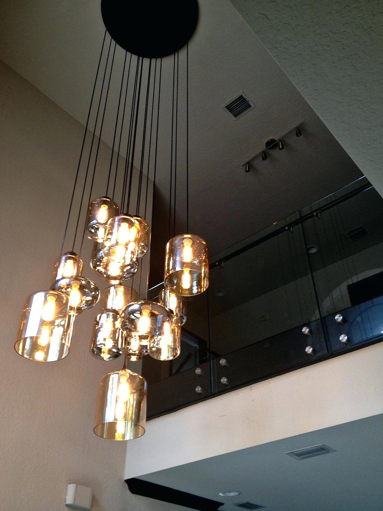 Stairwell Chandelier Lighting For 2017 Pendant Light: Stairwell Pendant Light (View 11 of 15)