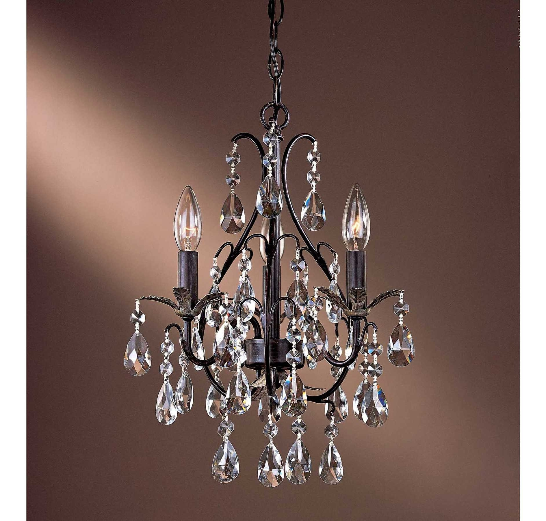 Stunning Mini Crystal Chandeliers For Bedrooms Trends With Small Intended For Favorite Mini Crystal Chandeliers (View 15 of 15)