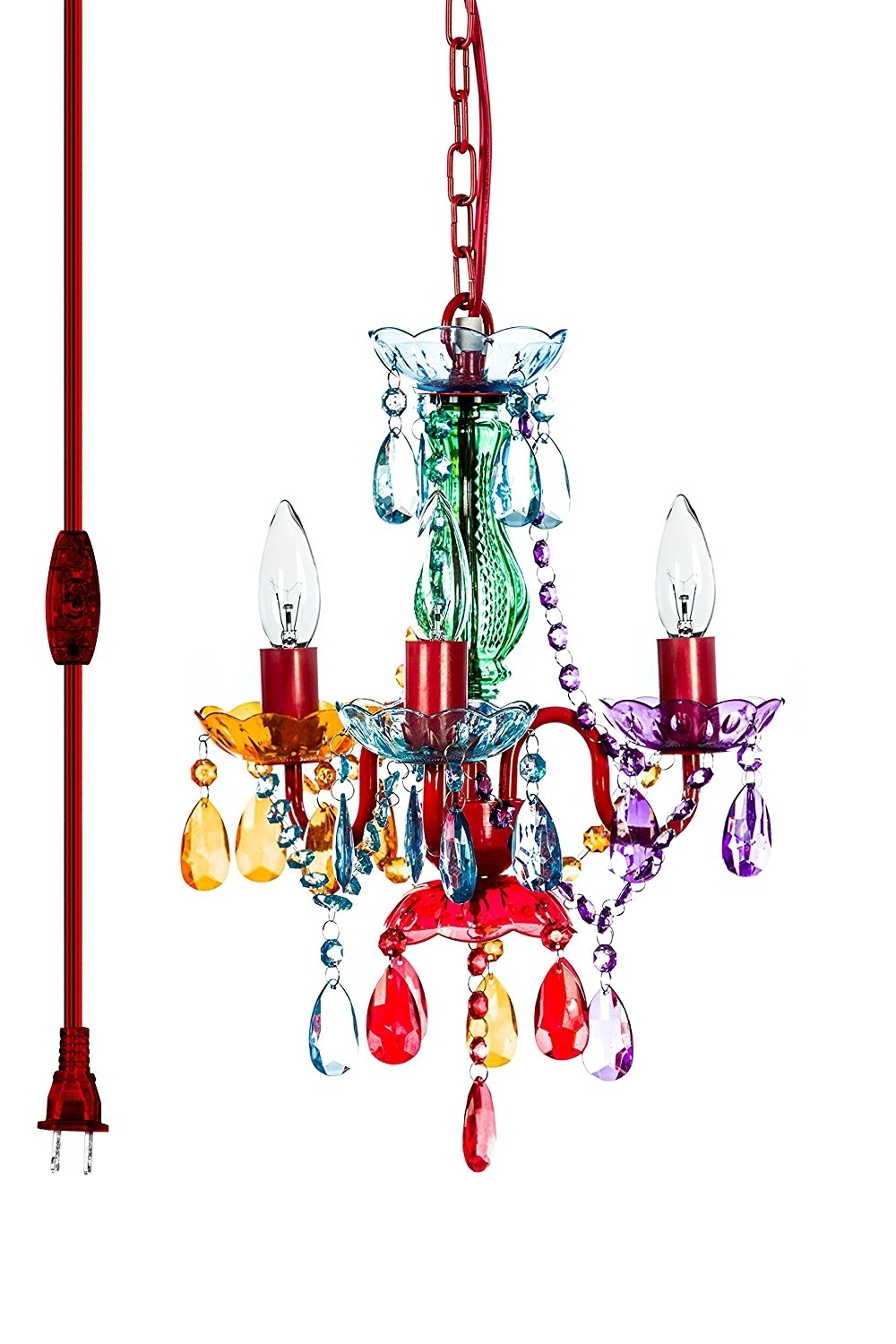 The Original Gypsy Color 3 Light Mini Plug In Gypsy Chandelier For Inside Preferred Small Gypsy Chandeliers (View 14 of 15)