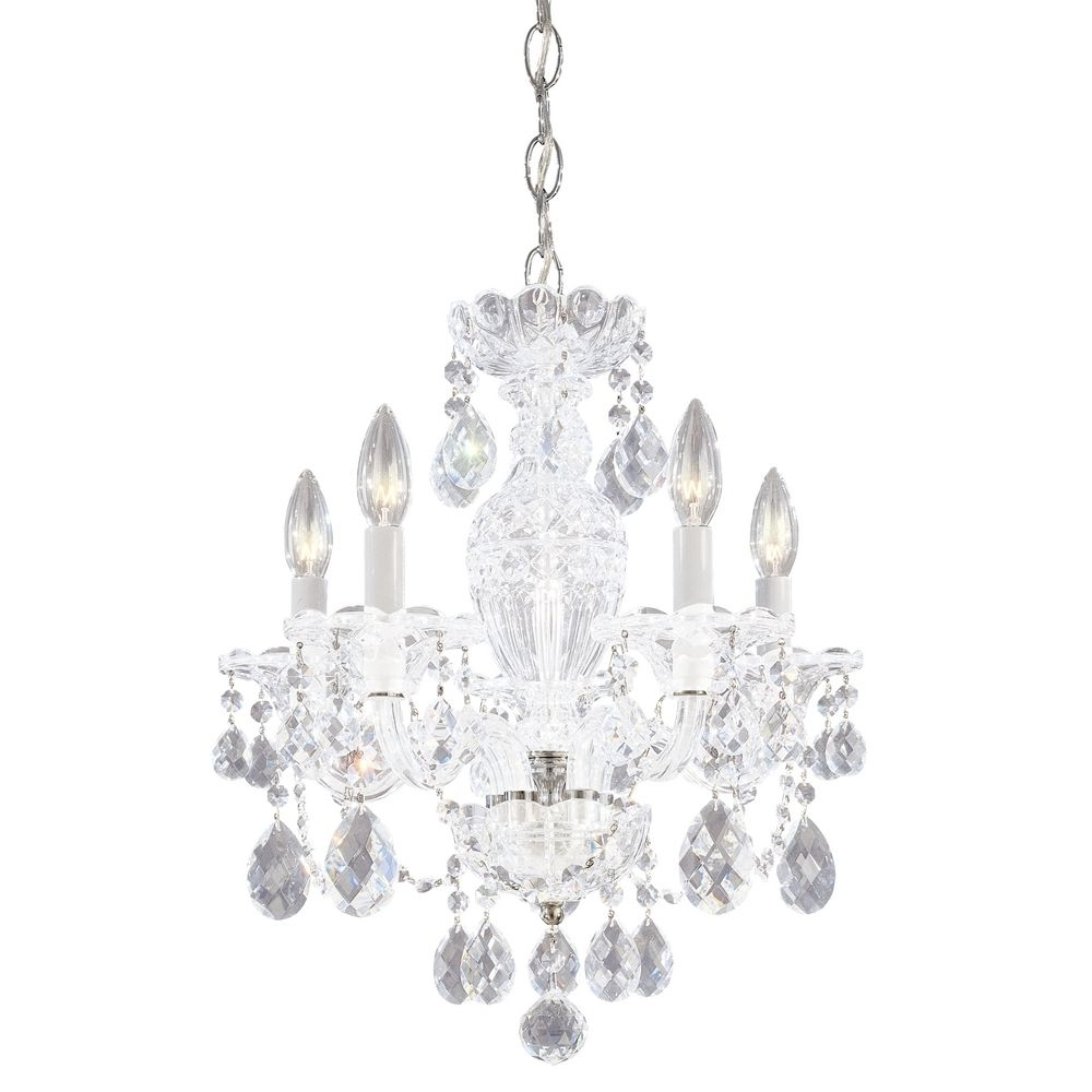 Tiny Chandeliers Regarding 2018 Chandeliers Design : Magnificent Uncategorized Small Crystal (View 11 of 15)