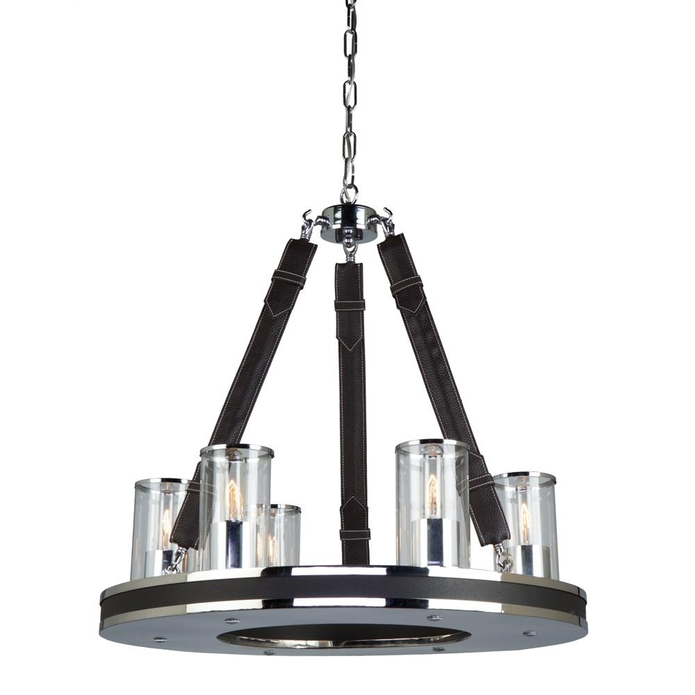 Transitional – Wood – Chandeliers – Lighting – The Home Depot In Most Recently Released Leather Chandeliers (View 11 of 15)