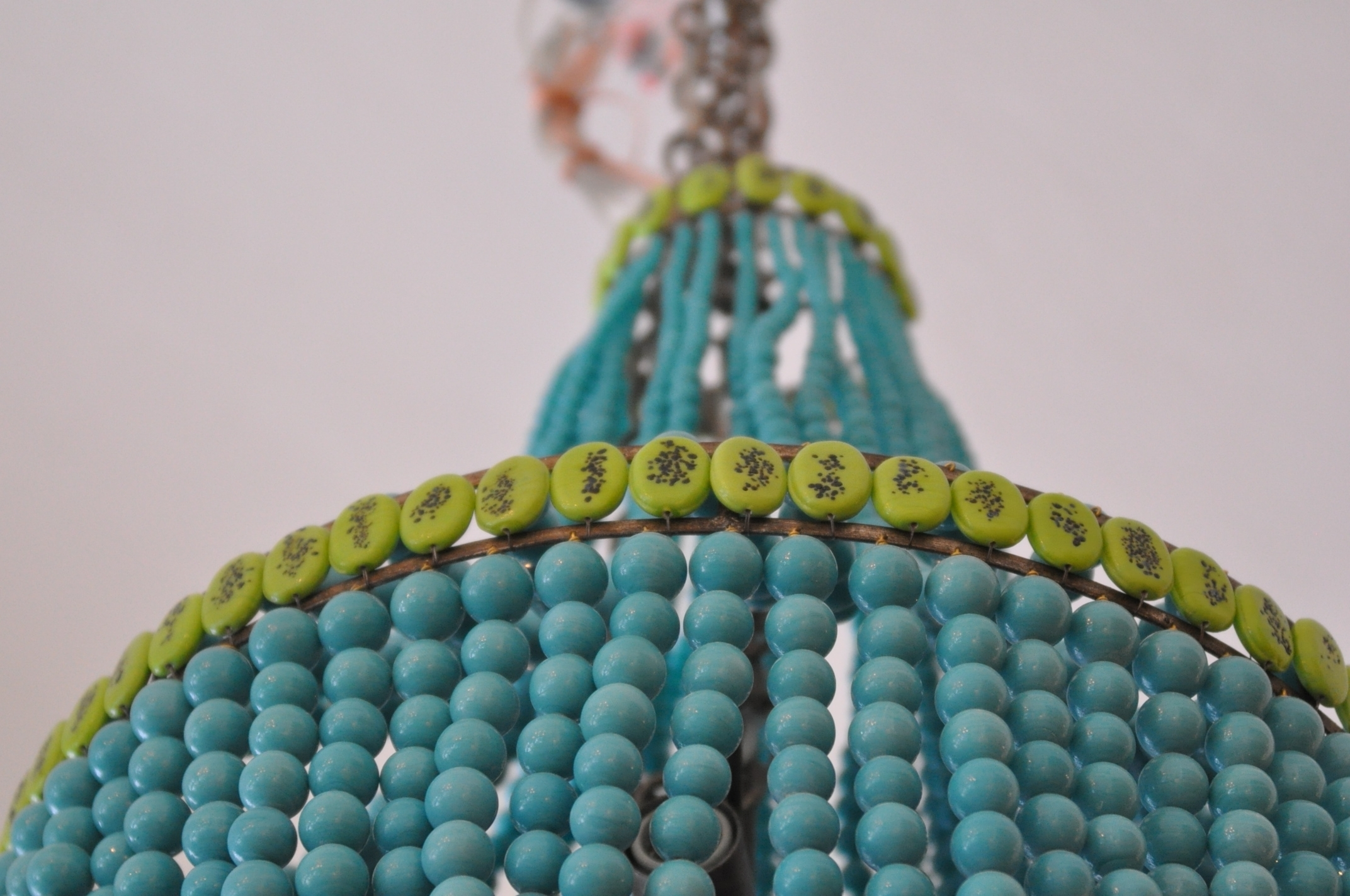 Trendy Beaded Empire Style Chandelier – Mecox Gardens In Turquoise Empire Chandeliers (View 12 of 15)