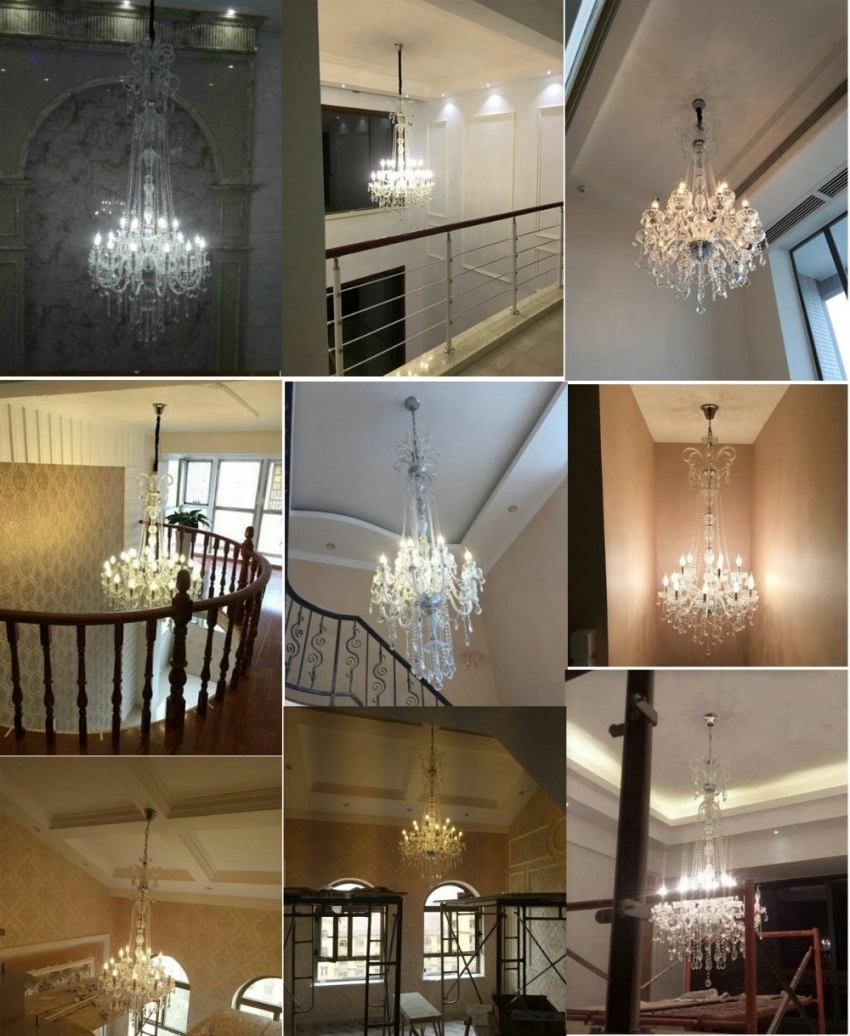 Trendy Crystal Chandelier Modern Large Crystal Chandelier For For Within Modern Large Chandelier (View 9 of 15)