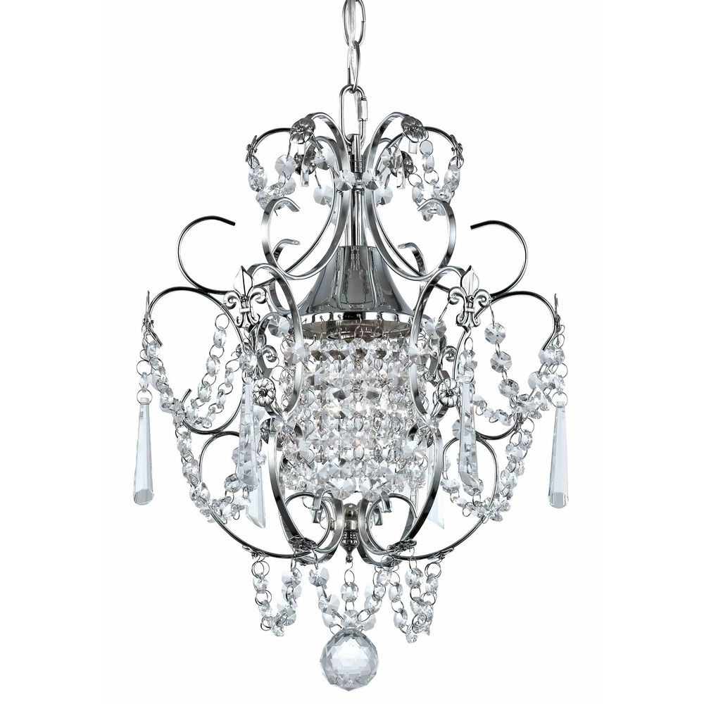 Trendy Crystal Mini Chandelier Pendant Light In Chrome Finish (View 7 of 15)