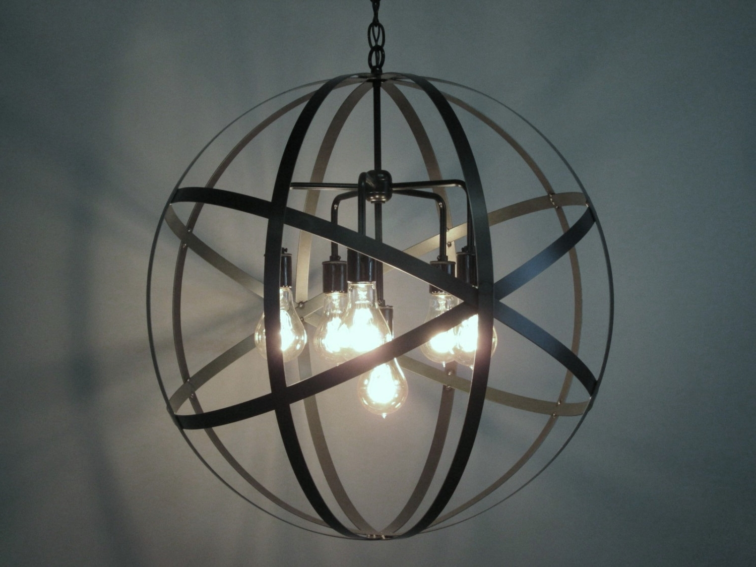Trendy Decor: Crystal Sphere Chandelier And Large Globe Chandelier Also With Regard To Large Globe Chandelier (View 4 of 15)