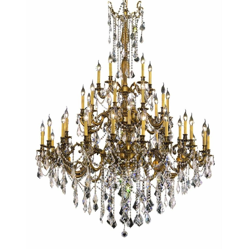 Trendy French Gold Chandelier Within Elegant Lighting 45 Light French Gold Chandelier With Clear Crystal (View 2 of 15)