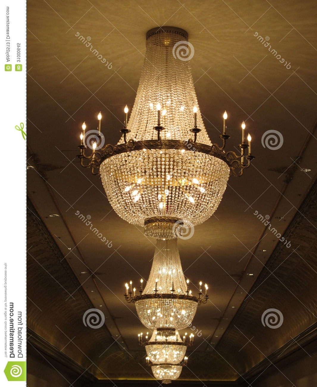 Trendy Huge Crystal Chandeliers With Gorgeous Crystal Chandelier Stock Image – Image Of Candles, Assets (View 14 of 15)
