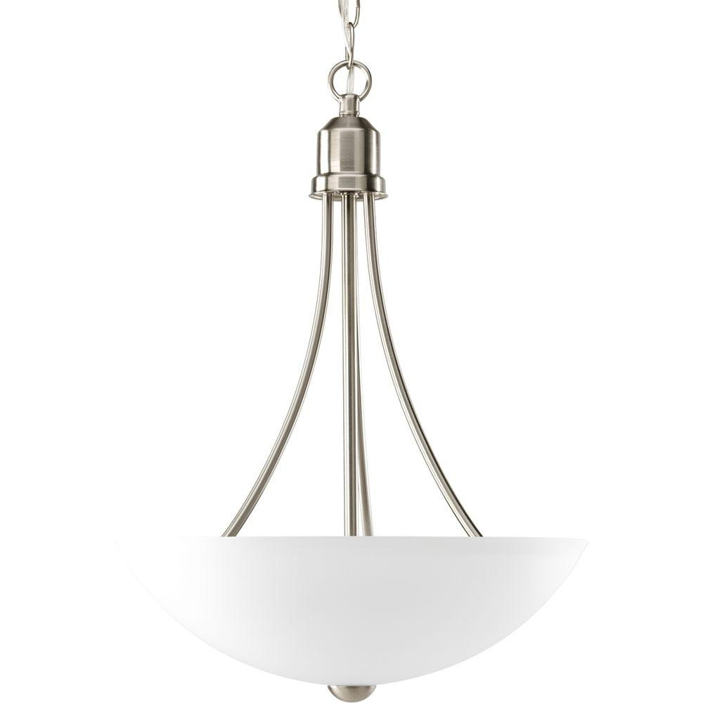 Trendy Inverted Pendant Chandeliers Pertaining To Progress Lighting Gather Collection 2 Light Antique Bronze Foyer (View 5 of 15)