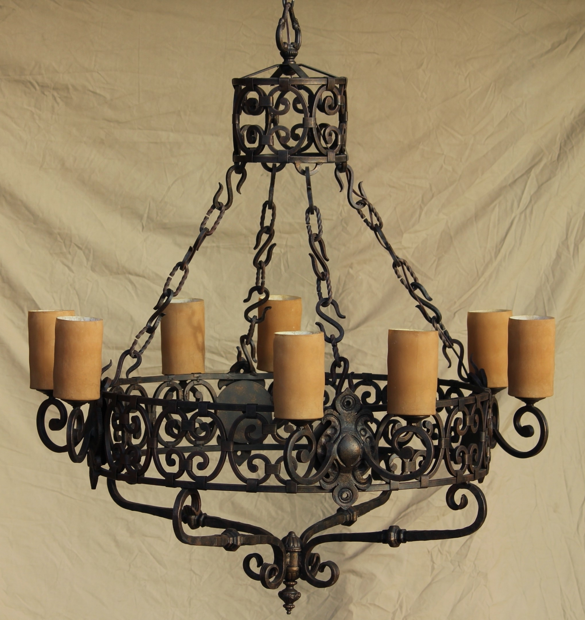 Trendy Lights Of Tuscany Chandeliers – Ceiling Fixtures – Fixtures For Wrought Iron Chandelier (View 7 of 15)