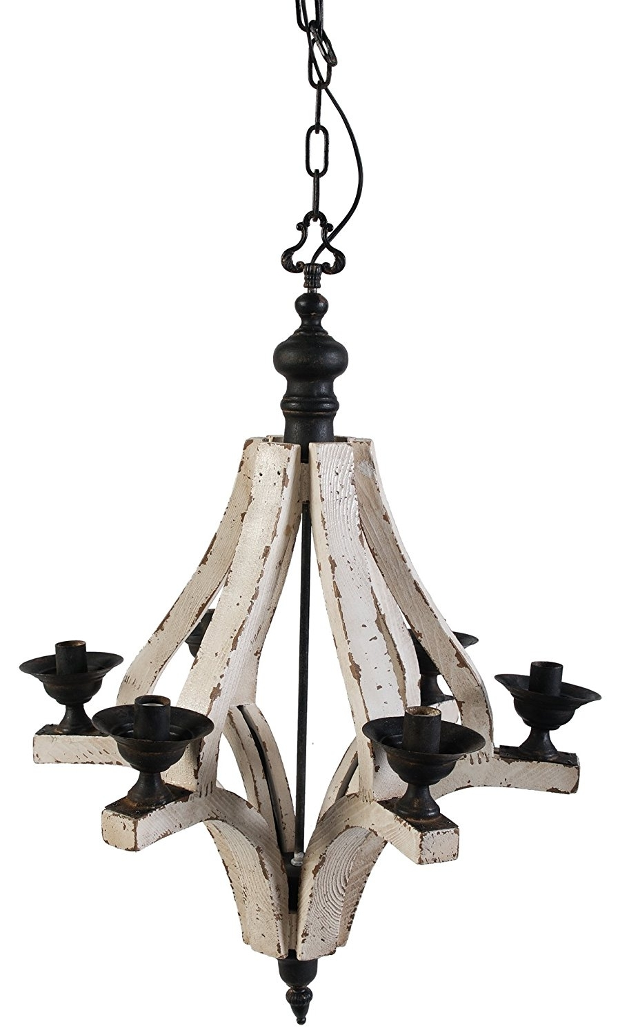 Trendy Metal Chandeliers Inside Amazon: A&b Home Wood And Metal Chandelier, 22.5 X (View 3 of 15)