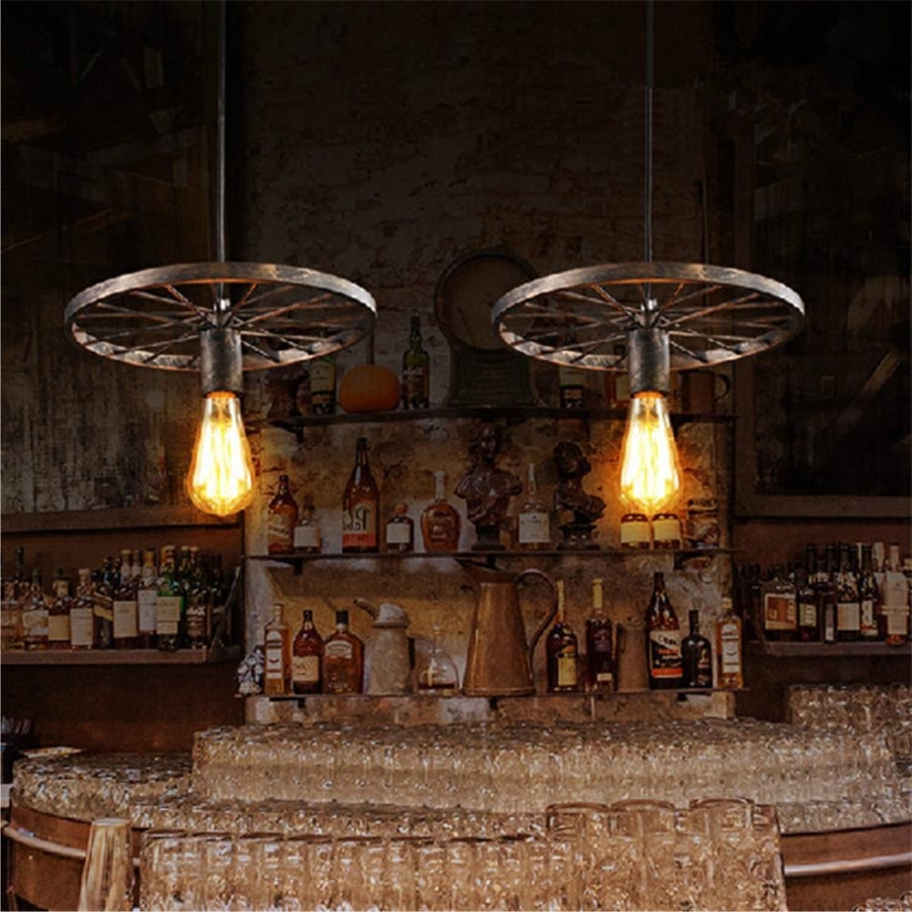 Trendy Modern Wrought Iron Chandeliers Throughout Vintage Black/brown Pendant Lighting Industrail Wrought Iron (View 4 of 15)