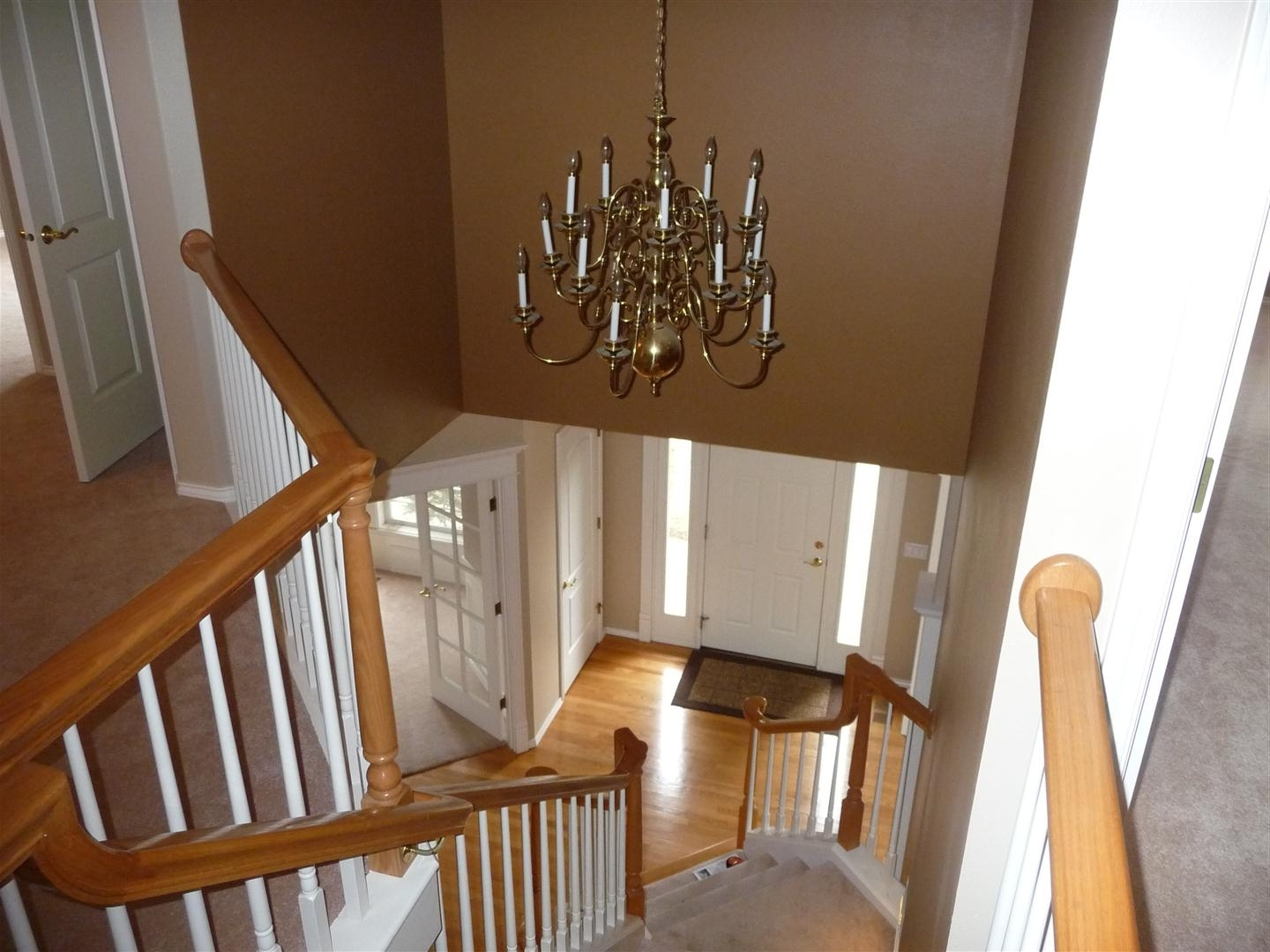 Trendy Replacing Chandelier – Entry Is 2 Stories Tall (Phone, Painting For Stairway Chandeliers (View 15 of 15)